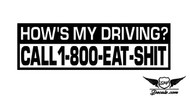 How's My Driving Sticker Decal