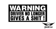 Warning Sticker Decal