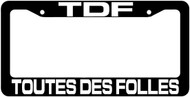 TDF License Plate Frame