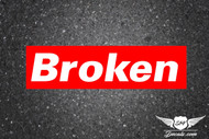 Broken Slap Sticker Decal