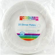 White Plastic Plate - Pkt 25 x 23cm