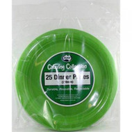 Lime Plastic Plate - Pkt 25 x 23cm