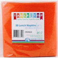 Orange Luncheon Napkins - Pkt 50