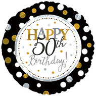 "#50 ""Happy 50th"" - 43cm Flat Foil"