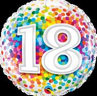 #18 Rainbow Confetti - 45cm Flat Foil