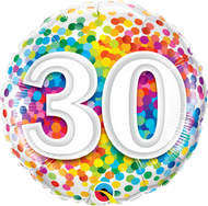 #30 Rainbow Confetti - 45cm Flat Foil