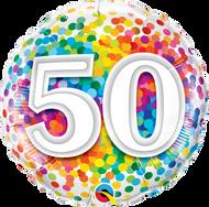 #50 Rainbow Confetti - 45cm Flat Foil