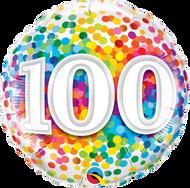 #100 Rainbow Confetti - 45cm Flat Foil