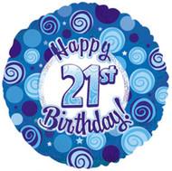 """#21 """"Glitzy Blue"""" - 45cm Flat Foil"""