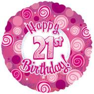"""#21 """"Glitzy Pink"""" - 45cm Flat Foil"""