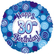 """#30 """"Glitzy Blue"""" - 45cm Flat Foil"""