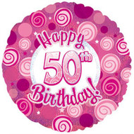 """#50 """"Glitzy Pink"""" - 45cm Flat Foil"""
