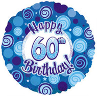 """#60 """"Glitzy Blue"""" - 45cm Flat Foil"""