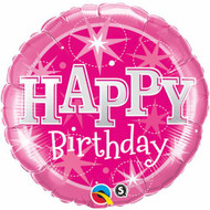 45cm Pink Birthday Sparkle - Inflated Foil
