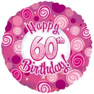 """#60 """"Glitzy Pink"""" - 45cm Flat Foil"""