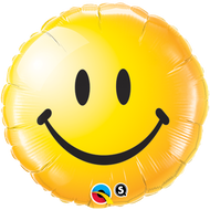 "45cm Smiley Face ""Yellow"" - Inflated Foil"
