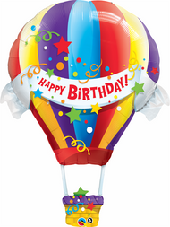 "Birthday ""Hot Air Balloon"" - 42"" Flat Shape"