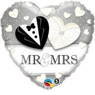 "45cm Wedding ""Mr. & Mrs"" - Inflated Foil"