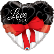 ILY Red Ribbon - Inflated 90cm Shape