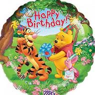 45cm Winnie Birthday - Inflated Foil