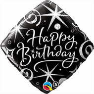 "Happy Birthday ""Elegant"" - 45cm Flat Foil"