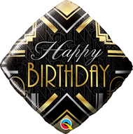Art Deco Birthday - 45cm Flat Foil