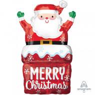 "Xmas ""Santa in Chimney"" - Inflated Shape"