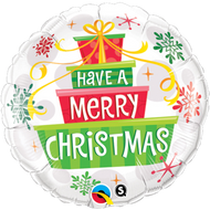 """Xmas """"Gift"""" - 45cm Inflated Foil"""