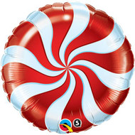 "Xmas "" Red Swirl"" - 45cm Inflated Foil"
