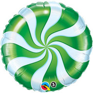 "45cm Xmas ""Green Swirl"" - Inflated Foil"