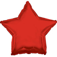 43cm Solid Red Star - INFLATED