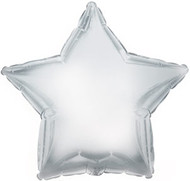 43cm Solid Silver Star - INFLATED