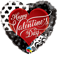 "45cm HVD ""Black Hearts"" - Inflated Foil"