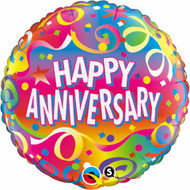 "45cm Anniversary ""Confetti"" - Inflated Foil"