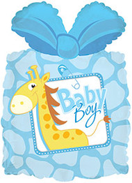 "Baby Boy ""Giraffe"" - 25"" Inflated Shape"