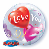 "22"" Single Bubble - ILY Hearts"