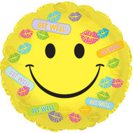 43cm GWS Smiley Kisses -  Inflated Foil