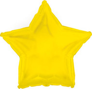 43cm Inflated Foil Star - Yellow