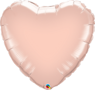 43cm Inflated Foil Heart - Rose Gold