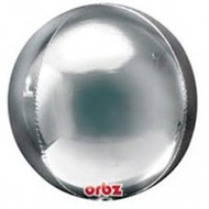 "Inflated Round Foil ""Orbz"" - Silver"