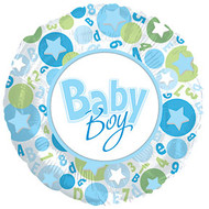 43cm Baby Boy -  Inflated Foil