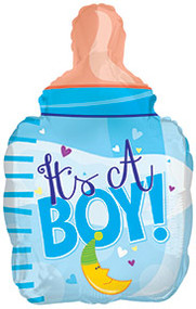 "Baby Boy ""Bottle"" - 22"" Inflated Shape"