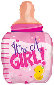 "Baby Girl ""Bottle"" - 22"" Inflated Shape"