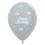 """30cm Birthday """"Pearl Silver"""" - Pack of 25"""