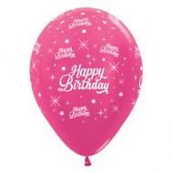 """30cm Birthday """"Metallic Fuchsia"""" - Pack of 25"""