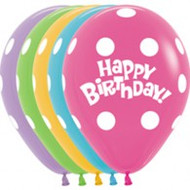 "Birthday ""Polka Dot"" Latex - Treated Bunch of 2"