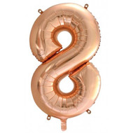 #8 Rose Gold - Inflated 86cm Shape