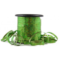 5mm x 225mtr Holographic Lime Metallic Curl Ribbon