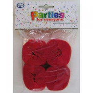 35mm Crepe Streamers - Scarlet Red Pack of 4