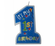 "Candles - Blue ""1st Birthday"""